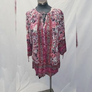 Lucky Brand Women's Tunic Blouse XL Floral